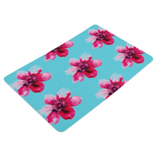 watercolor customisable roses bathroom mat