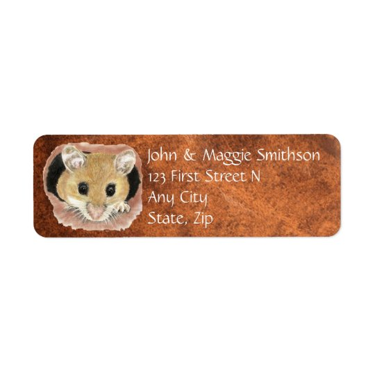 Watercolor Cute Mouse Animal Address