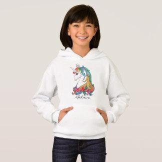 Watercolor cute rainbow unicorn