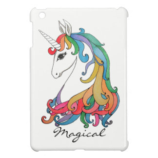 Watercolor cute rainbow unicorn iPad mini covers