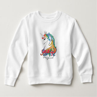Watercolor cute rainbow unicorn sweatshirt