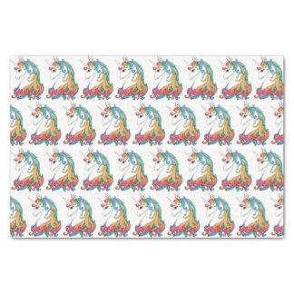 Watercolor cute rainbow unicorn tissue paper