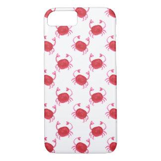 watercolor cute red crabs beach design iPhone 7 case