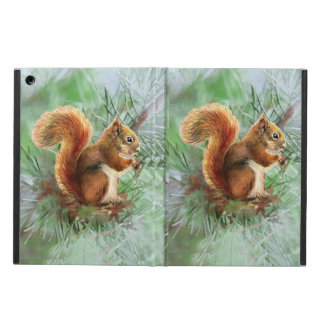 Watercolor Cute Red Squirrel Animal Nature Art Case For iPad Air