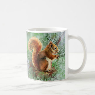Watercolor Cute Red Squirrel Animal Nature Art Coffee Mug