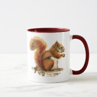 Watercolor Cute Red Squirrel Animal Nature Mug