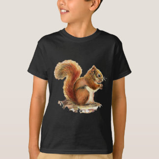 Watercolor Cute Red Squirrel Animal Nature T-Shirt