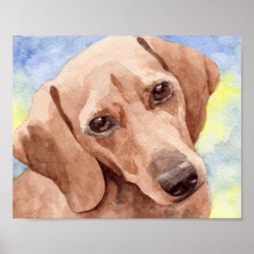 Watercolor Dachshund Art Print