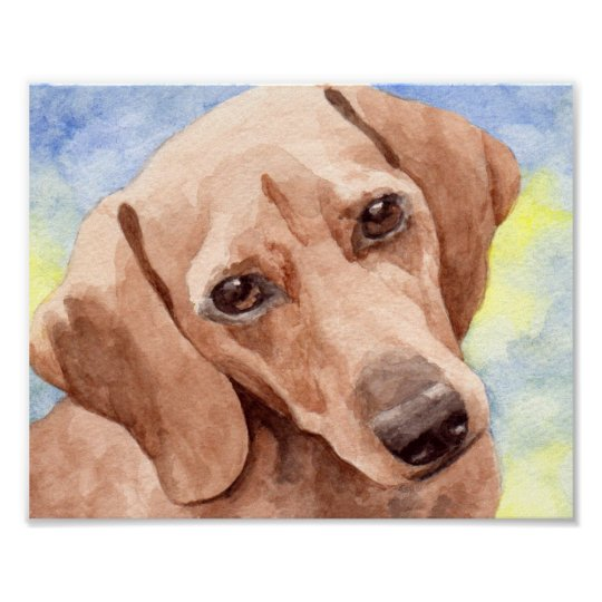 Watercolor Dachshund Art Print
