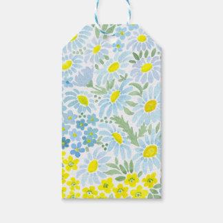 Watercolor daisies gift tags