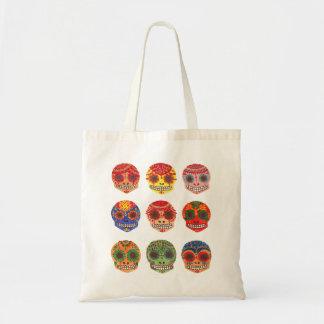 Watercolor Dia de los Muertos Skulls Tote Bag