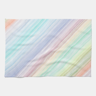 Watercolor Diagonal Stripes Tea Towel