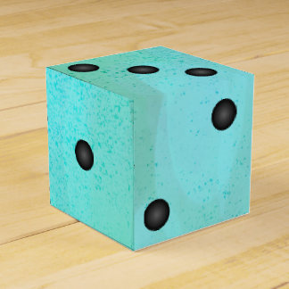Watercolor Dice or Die Wedding Party Favor Box