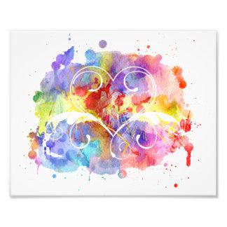 Watercolor Digital Painting | Hearts Cutouts Photo Print