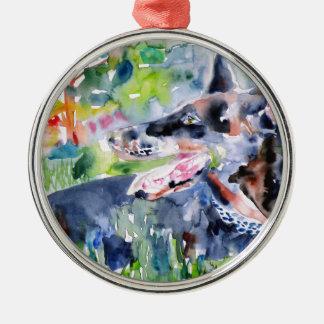 watercolor DOBERMANN Christmas Ornament