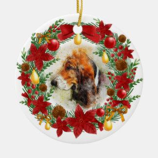 Watercolor Dog Christmas Ornament