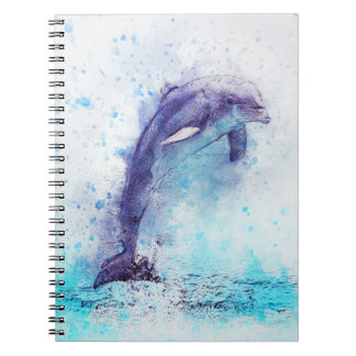 Watercolor Dolphin Spiral Notebook