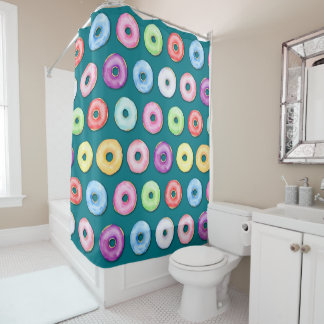 Watercolor DonutsShower Curtain