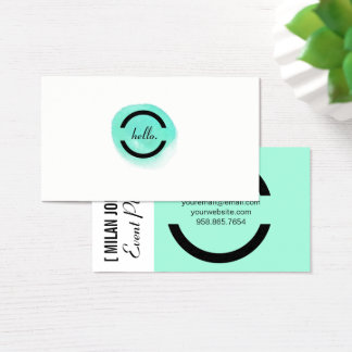 Watercolor Dot Business Card