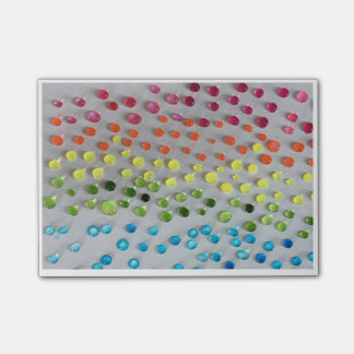Watercolor dots post-it notes