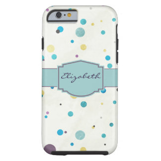 Watercolor Dots Tough iPhone 6 Case