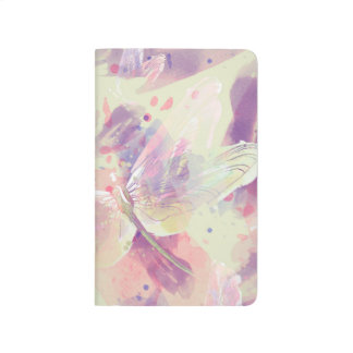 Watercolor Dragonflies Pink Lavender White Journals