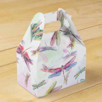 Watercolor Dragonfly Favor Box