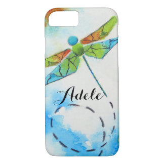 Watercolor Dragonfly Personalized  iPhone 7 Case