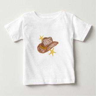 Watercolor Dream Big Little Cowboy Baby T-Shirt