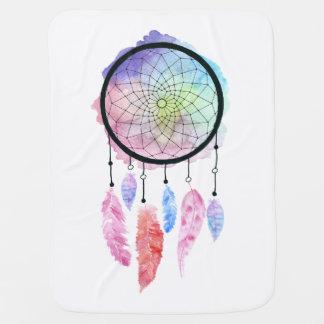 Watercolor Dreamcatcher Baby Blanket