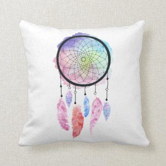 Watercolor Dreamcatcher Pillow