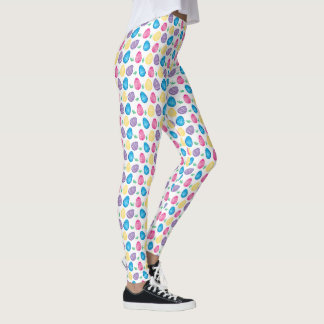 Watercolor Easter Egg Hunt Pattern Leggings