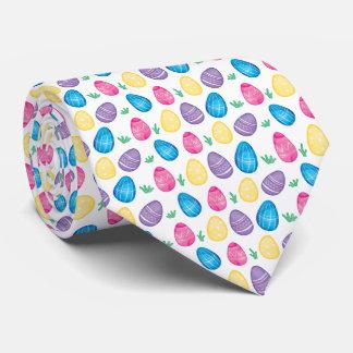 Watercolor Easter Egg Hunt Pattern Tie