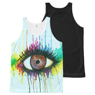 Watercolor Eye All-Over Print Tank Top