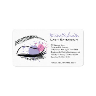 Watercolor eye eyelashes Lash extension icon Label