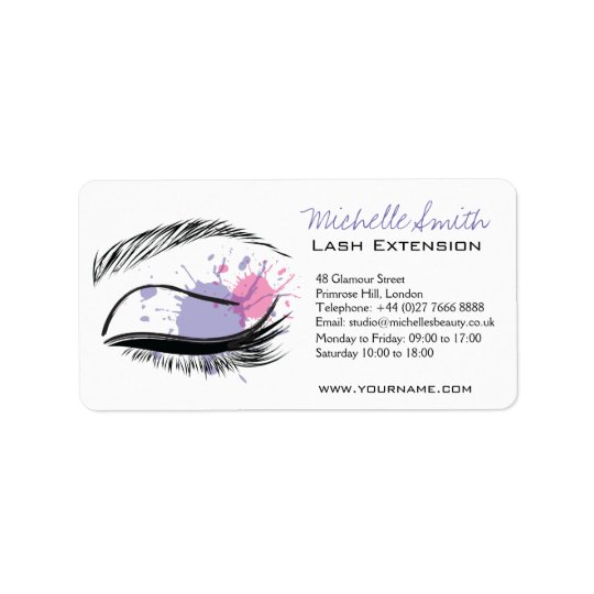 Watercolor eye eyelashes Lash extension icon Label