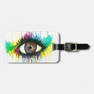 Watercolor Eye Luggage Tag