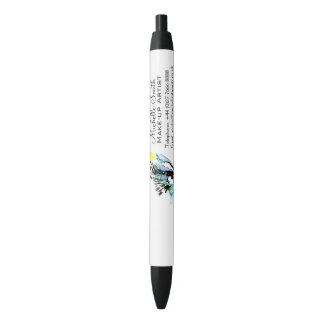 Watercolor eyes lash extension makeup branding black ink pen