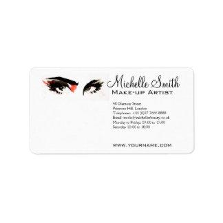 Watercolor eyes lash extension makeup branding label