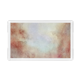Watercolor Fall Background Acrylic Tray