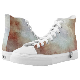 Watercolor Fall Background High Tops