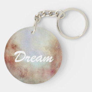 Watercolor Fall Background Key Ring