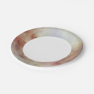 Watercolor Fall Background Paper Plate