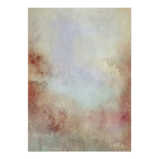 Watercolor Fall Background Poster