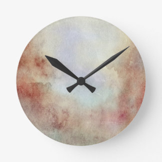 Watercolor Fall Background Round Clock