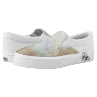 Watercolor Fall Background Slip On Shoes