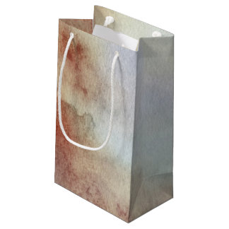 Watercolor Fall Background Small Gift Bag