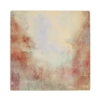 Watercolor Fall Background Wood Coaster