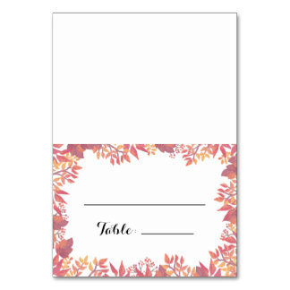 Watercolor Fall Escort Place Card