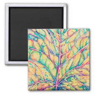 Watercolor Fall Leaf Custom Magnet